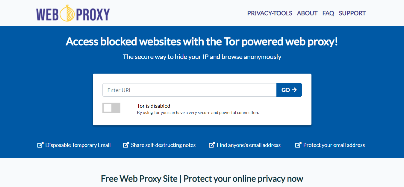 weboproxy home page
